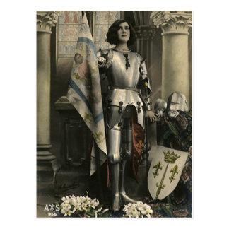Carte Postale Description vintage de Jeanne d'Arc