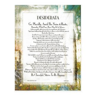 Carte Postale DESIDERATA de Piazza de La par Ehrmann maximum