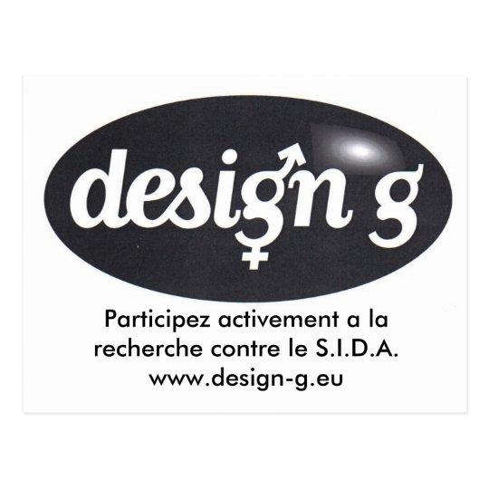 Carte Postale Design-G, Participez activement a la recherche ...