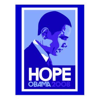Carte postale d'espoir d'Obama