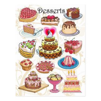 Carte Postale Desserts