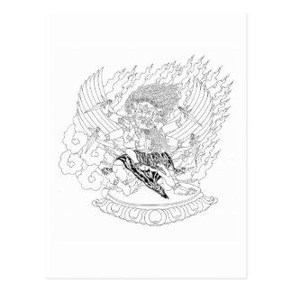Carte Postale Dessin au trait [carte postale] Dorje Phurba