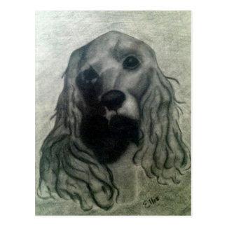 Cadeaux dessin fusain chien - Dessin de cocker ...
