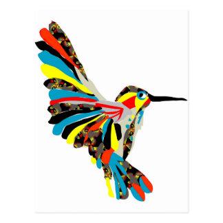 Carte Postale dessin de colibri