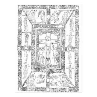 Carte Postale Dessin doré d'epternacensis de codex