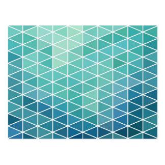 Carte Postale Dessin géométrique de triangle d'Aqua