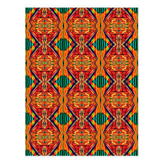 Carte Postale Dessin géométrique multicolore. Motif abstrait