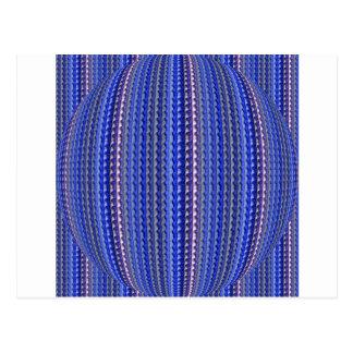 Carte Postale Dessin géométrique pourpre coloré lumineux méga