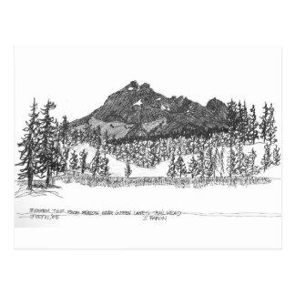 Carte Postale Dessus cassé de pré près de trailhead vert de lacs