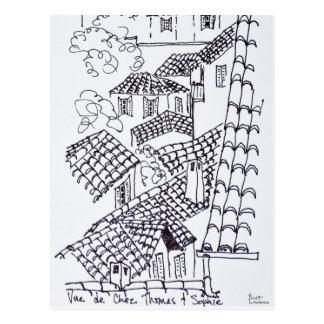 Carte Postale Dessus de toit de Marseille, France