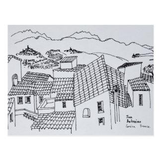 Carte Postale Dessus de toit de Sant'Antonino | Corse, France