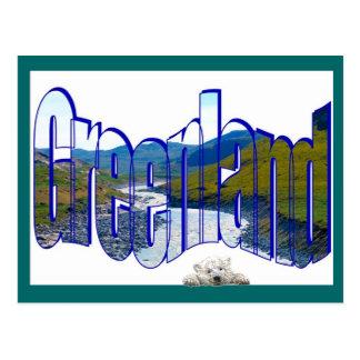 Carte Postale Dessus du Groenland du monde