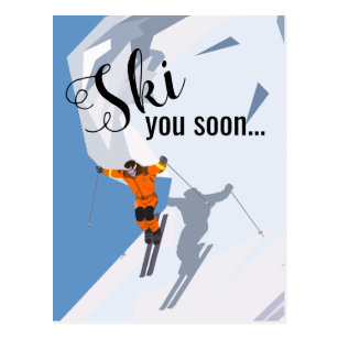 Invitations, Faire-part & Cartes Humour Ski | Zazzle.fr
