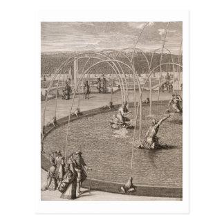 Carte Postale Détail de fontaine de Diana et d'Apollo chez