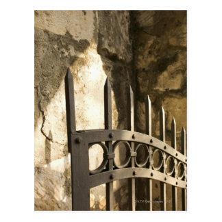Carte Postale Détail de porte de fer travaillé à San Antonio