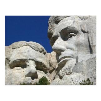 Carte Postale Détail du mont Rushmore