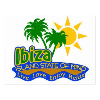 Carte postale d'état d'esprit d'Ibiza