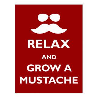 Carte Postale Détendez et élevez une moustache