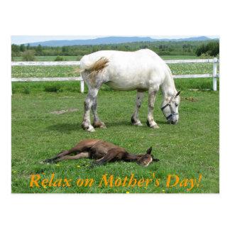 Carte Postale Détendez le jour de mère !