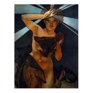 Carte postale d'étoile de matin d'Alphonse Mucha