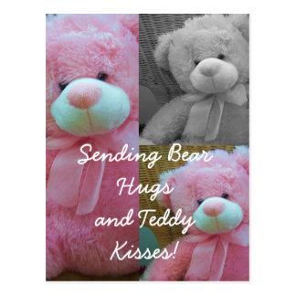 Carte postale d'étreintes d'ours de nounours