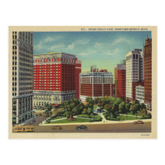 Carte Postale Detroit vintage Michigan