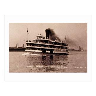 Carte Postale Detroit Windsor et ferry d'île de belle - Louis