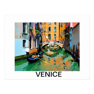 Carte Postale Deux amants gondole à Venise, Italie