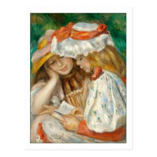 Carte Postale Deux filles lisant par Renoir