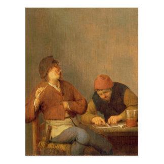 Carte Postale Deux fumeurs dans un intérieur, 1643