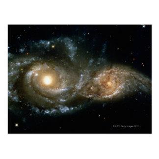 Carte Postale Deux galaxies en spirale 2