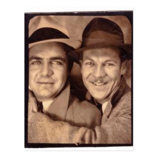 Carte Postale Deux hommes dans la cabine 1933 de photo