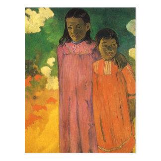 Carte Postale Deux soeurs par Paul Gauguin, impressionisme