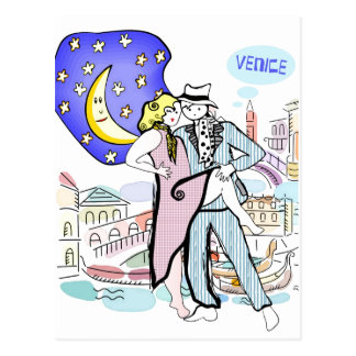 Carte Postale Deux Tangueros à Venise