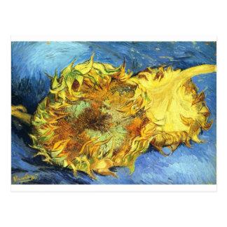 Carte Postale Deux tournesols coupés - Vincent van Gogh