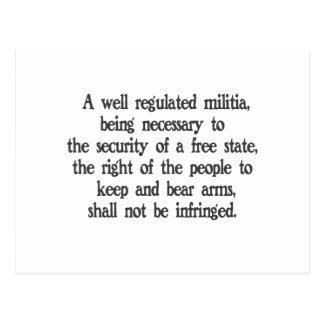 Carte Postale Deuxième amendement