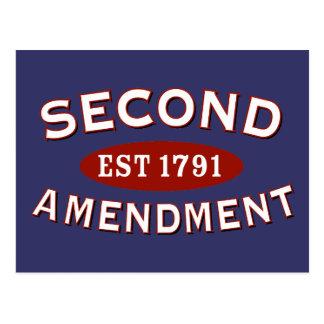 Carte Postale Deuxième est 1791 d'amendement
