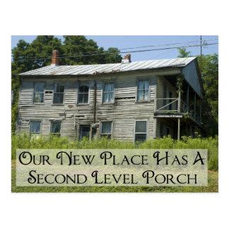 Carte Postale Deuxième porche de niveau - changement d'adresse