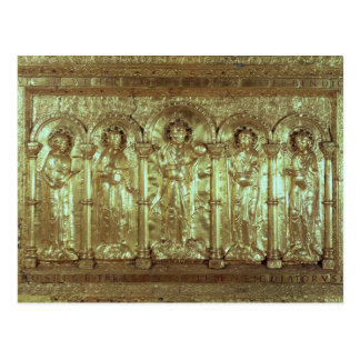 Carte Postale Devant d'autel dépeignant le Christ avec les