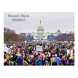 Carte postale d'évènements mémorables de mars des
