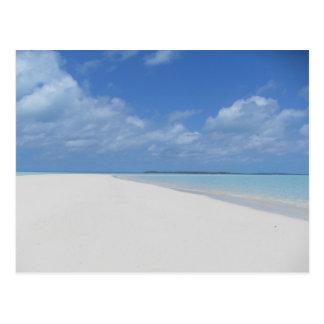 Carte postale d'Exumas Bahamas de beau