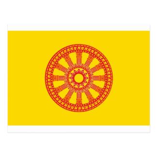 Carte Postale Dharmacakra - conception (de la Thaïlande)