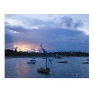 Carte Postale Dhaws au coucher du soleil, port de Vilanculos,