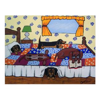 Carte postale d'histoire de temps de lit de