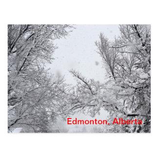 Carte postale d'hiver d'Edmonton, Alberta
