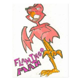 Carte postale d'homme de flamant