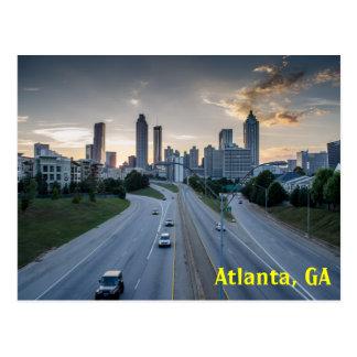 Carte postale d'horizon d'Atlanta