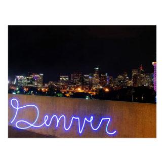 Carte postale d'horizon de Denver