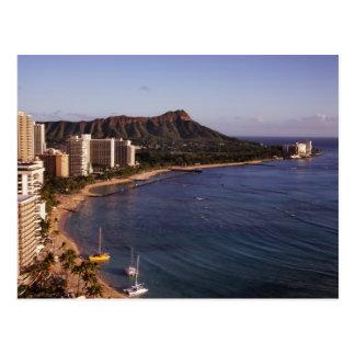 Carte postale d'horizon de Honolulu