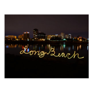 Carte postale d'horizon de Long Beach